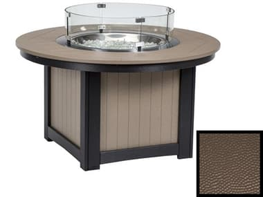 Berlin Gardens Donoma Recycled Plastic Hammered 44'' Wide Round Fire Pit Table BLGDHFFP2544