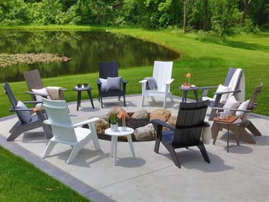 Berlin Gardens Nordic Recycled Plastic Firepit Lounge Set BLGNRDICFRPTLNGSET