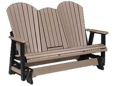 Berlin Gardens Comfo-back Recycled Plastic Three Seat Glider in Stainless Brackets BLGPCTG6000