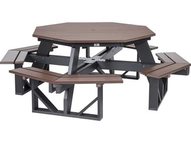Berlin Gardens Recycled Plastic 86''W x 86''D Octagon Picnic Table BLGPOPT5184