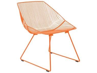 Bend Goods Outdoor Bunny Orange Metal Lounge Chair BOOBUNNYOR