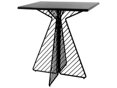 Bend Goods Outdoor Cafe Black 30'' Wide Square Dining Table BOOCAFETABLESQUAREBK