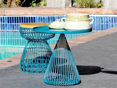 Bend Goods Outdoor Cono Metal Lounge Set BOOCONICALTABLEPCSET1