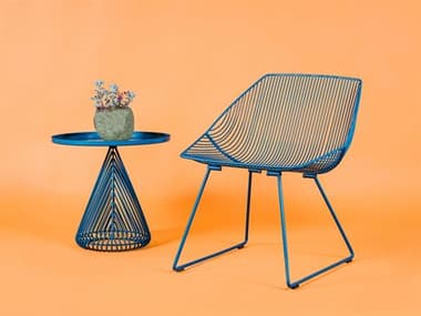 Bend Goods Outdoor Cono Metal Lounge Set BOOCONICALTABLEPCSET2