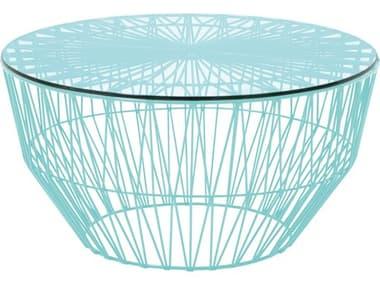Bend Goods Outdoor Drum Aqua 24'' Wide Round Coffee Table BOODRUMAQ