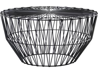 Bend Goods Outdoor Drum Black 25'' Wide Round Coffee Table BOODRUMBLK