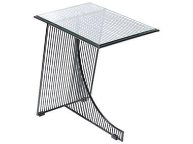 Bend Goods Outdoor Eclipse Black 18'' Wide Rectangular End Table BOOECLIPSETABLEBLK