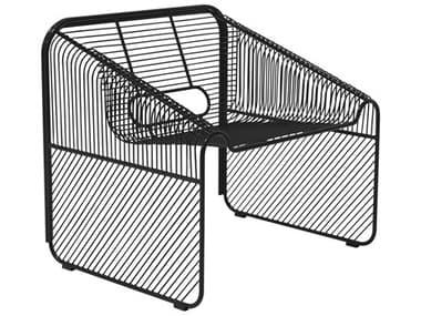 Bend Goods Outdoor Hot Seat Black Metal Lounge Chair BOOHOTSEATBK