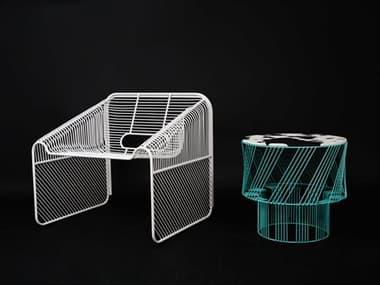 Bend Goods Outdoor Hot Seat Metal Lounge Set BOOHOTSEATWHSET