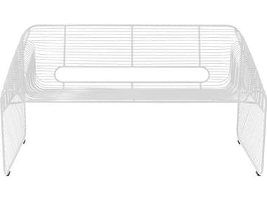 Bend Goods Outdoor Loveseat White Metal Bench BOOLOVESEATWH