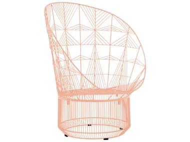 Bend Goods Outdoor Peacock Peachy Pink Metal Lounge Chair BOOPEACOCKPNK