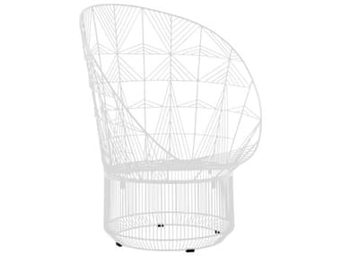 Bend Goods Outdoor Peacock White Metal Lounge Chair BOOPEACOCKWH