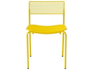 Bend Goods Outdoor Rachel Yellow Metal Dining Chair BOORACHELYLW
