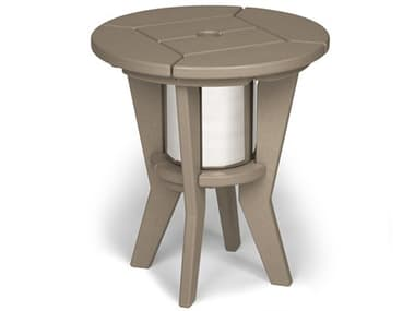 Breezesta Chill Recycled Plastic 20''Wide Round Beverage End Table BRECI1801
