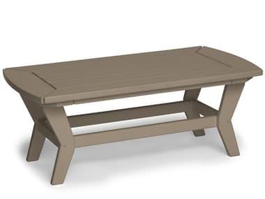 Breezesta Chill Recycled Plastic 42''W x 22''D Rectangular Coffee Table BRECI1802