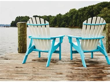 Breezesta Coastal Recycled Plastic Adirondack Lounge Set BRECOASTLADNDKLNGSET3