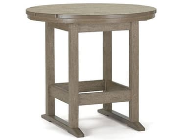 Breezesta Dining Recycled Plastic 36'' Wide Round Dining Height Table BREDH0703
