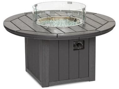Breezesta Elementz Recycled Plastic 48'' Wide Round Chat Height Fire Pit Table BREFT1501
