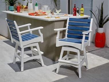 Breezesta Piedmont Recycled Plastic Bar Stool Set BREPIEDMNTBARSET2