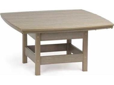 Breezesta Piedmont Recycled Plastic 32'' Wide Square Chat Table BREPT0704