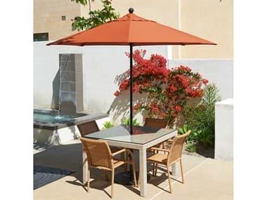 California Umbrella Oceanside Series 9 Foot Octagon Market All Fiberglass Umbrella with Push Lift System CAEFFO908