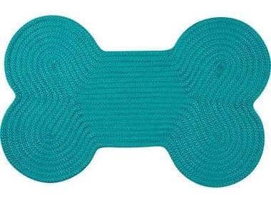 Colonial Mills Dog Bone Solid Turquoise 18''x30'' Dog Bone Area Rug CIH049RGDGB