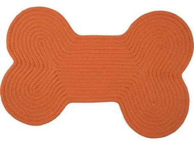 Colonial Mills Dog Bone Solid Orange 18''x30'' Dog Bone Area Rug CIH073RGDGB