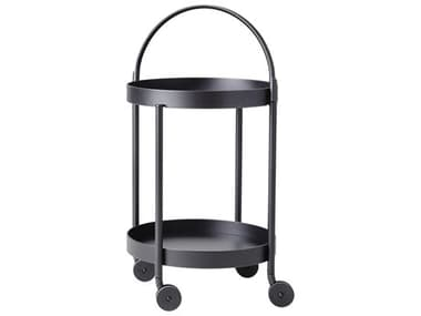 Cane Line Outdoor Roll Aluminum 17'' Wide Round Trolley CNO5002