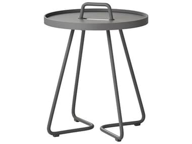 Cane Line Outdoor On-the-move Aluminum X-Small 14'' Wide Round End Table CNO5062