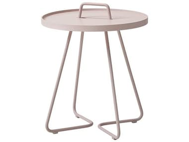 Cane Line Outdoor On-the-move Aluminum Small 17'' Wide Round End Table CNO5065