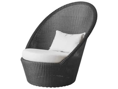 Cane Line Outdoor Kingston Wicker Sun Lounge Chair with Wheels CNO5448