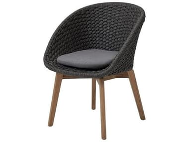 Cane Line Outdoor Peacock Teak Soft Rope Dining Arm Chair CNO5454