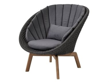 Cane Line Outdoor Peacock Teak Soft Rope Lounge Chair CNO5458