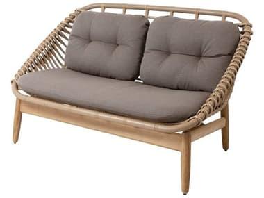 Cane Line Outdoor String Aluminum Teak Natural Sofa CNO55020UAITTT