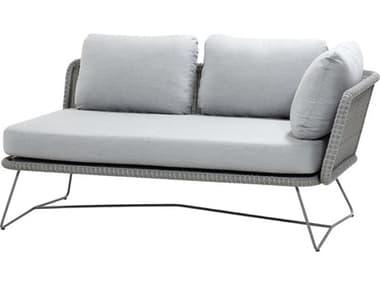 Cane Line Outdoor Horizon Steel Wicker Left Arm Sofa CNO5505