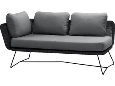 Cane Line Outdoor Horizon Steel Wicker Right Arm Sofa CNO5506