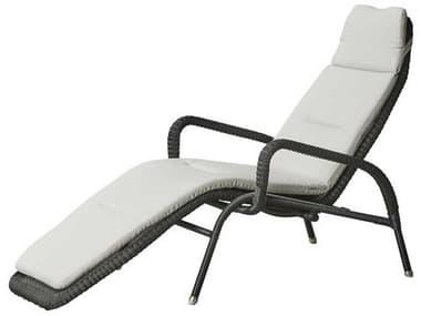 Cane Line Outdoor Sunrise Graphite Aluminum Wicker Chaise Lounge CNO5525LG