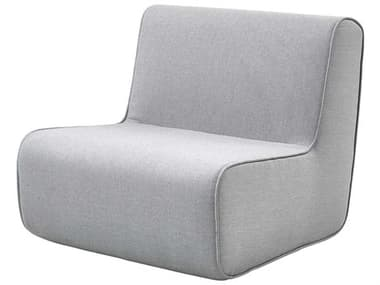 Cane Line Outdoor Grey Fabric Cushion Lounge Chair CNO6448MAILSL
