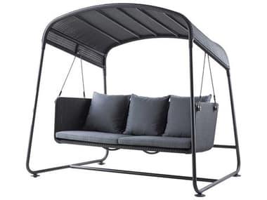 Cane Line Outdoor Cave Graphite Aluminum Cushion Swing CNO8557LGSG