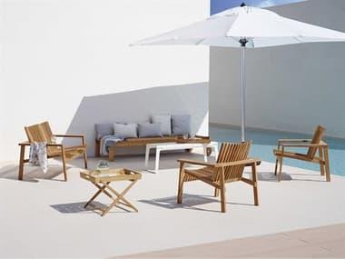 Cane Line Outdoor Amaze Teak Lounge Set CNOAMZELNGSET