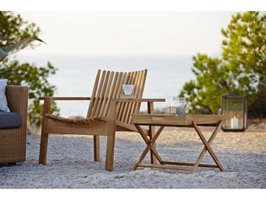 Cane Line Outdoor Amaze Teak Lounge Set CNOAMZELNGSET3