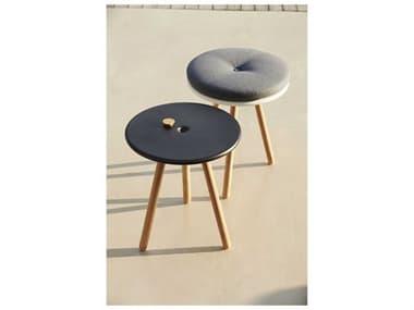 Cane Line Outdoor Area Aluminum Teak End Table/Stool Set CNOAREAENDTBLESET1