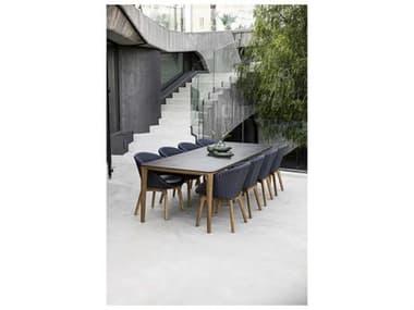 Cane Line Outdoor Aspect Teak Wicker Dining Set CNOASPCTDINSET