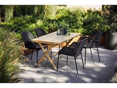Cane Line Outdoor Breeze Aluminum Wicker Dining Set CNOBRZEDINSET