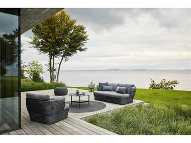 Cane Line Outdoor Basket Wicker Lounge Set CNOBSKETLNGSET1