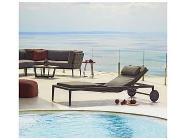 Cane Line Outdoor Conic Aluminum Cushion Lounge Set CNOCNICLNGSET1