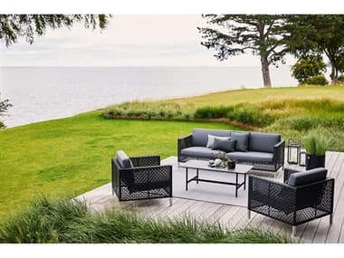Cane Line Outdoor Connect Wicker Lounge Set CNOCNNCTLNGSET