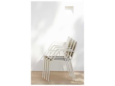 Cane Line Outdoor Copenhagen Aluminum Stackable Dining Arm Chair Set CNOCPNHGENDINCHRSET