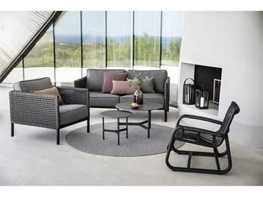 Cane Line Outdoor Curve Aluminum Wicker Lounge Set CNOCURVELNGSET