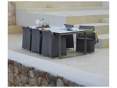 Cane Line Outdoor Diamond Aluminum Dining Set CNODIAMNDDINSET1